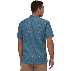 Patagonia Back Step T-shirt Homme, swamp stamp multi/pigeon blue